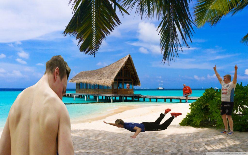 """""""Hieman"""" kuvitteellinen tilanne Bahamalta noin 3 kuukauden päästä."""